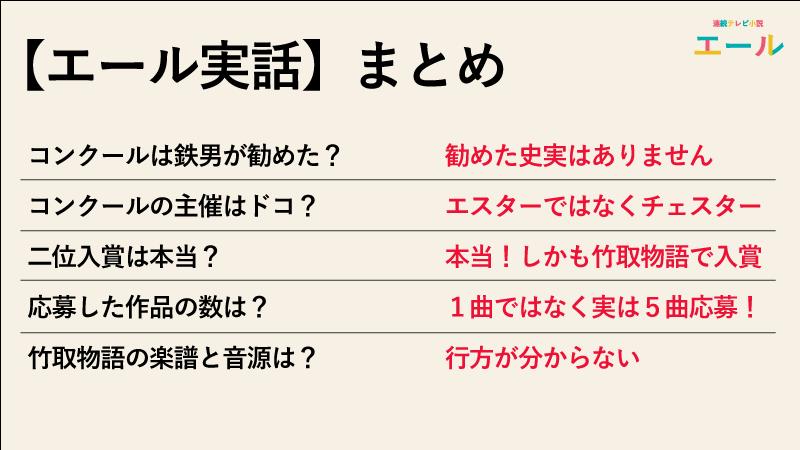 【エール実話】交響曲竹取物語で入賞した話は実話なのかのまとめ