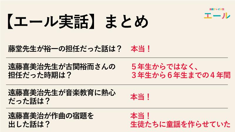 【エール実話】藤堂先生が裕一の担任だった話は本当なのか実話まとめ