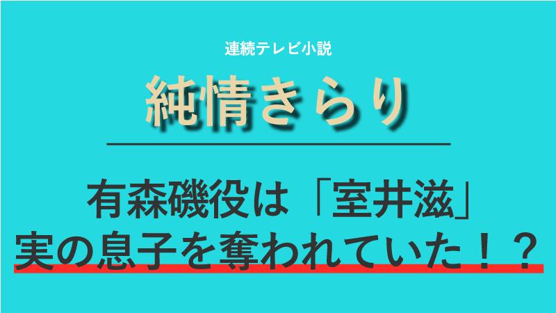 『純情きらり』有森磯役は室井滋!実の息子を奪われていた!?