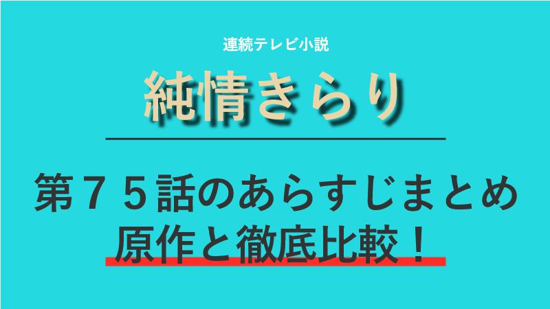 純情きらり第75話のネタバレあらすじ!又従兄弟と結婚!?