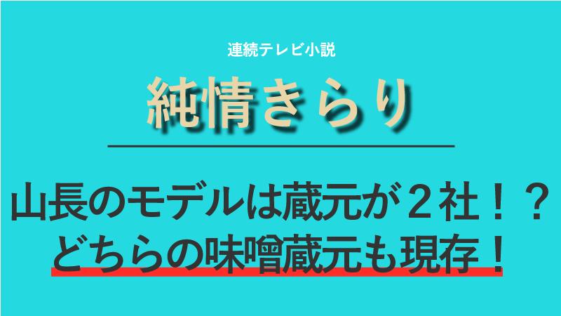 朝ドラ『純情きらり』山長のモデルは味噌蔵元が2社!?どちらも現存!