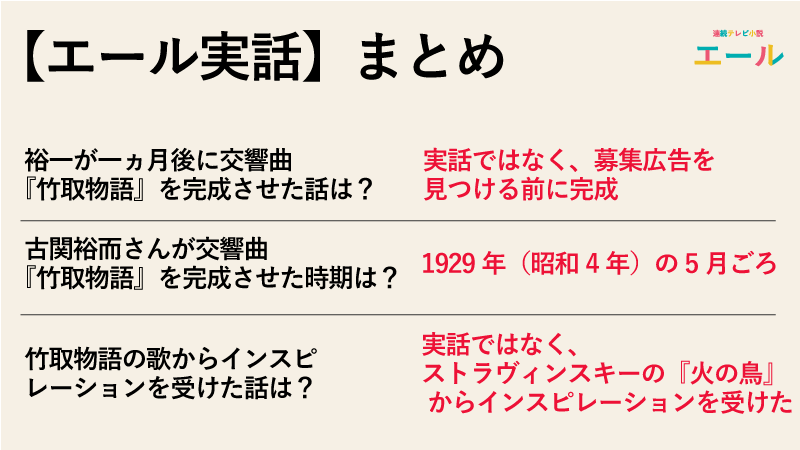 【エール実話】交響曲『竹取物語』を1ヶ月で完成させたのは本当なのか実話まとめ