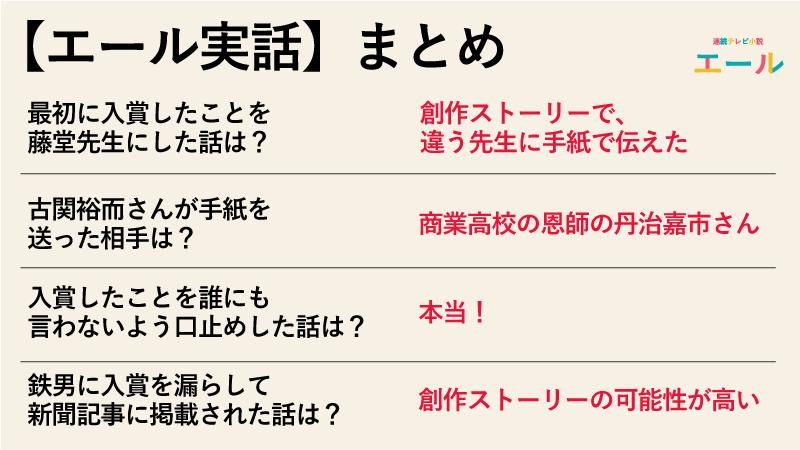 【エール実話】入賞を最初に藤堂先生に報告したのは本当なのか実話まとめ