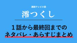 朝ドラ「澪つくし」のネタバレ!あらすじを最終回まで全162話紹介!