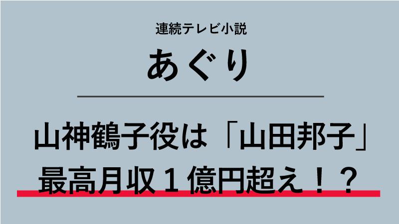 『あぐり』山神鶴子役は山田邦子!レギュラー本数14本で最高月収1億円!?