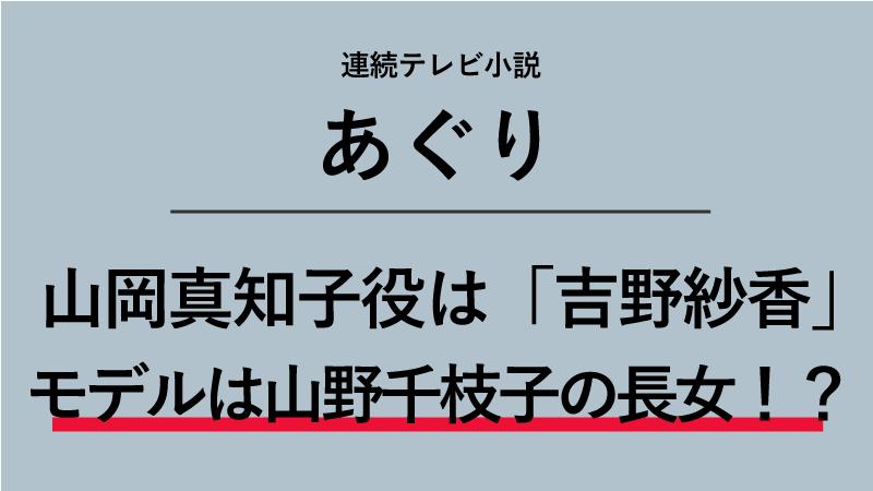 『あぐり』山岡真知子役は吉野紗香!モデルは美容家・山野千枝子の長女!?